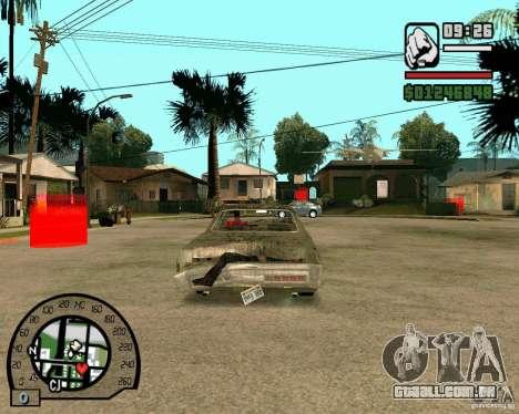 Plymouth Fury III para GTA San Andreas traseira esquerda vista