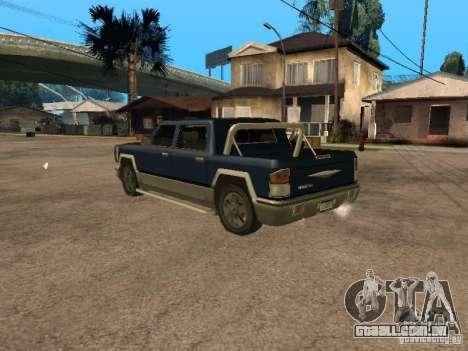 HD Columb para GTA San Andreas esquerda vista
