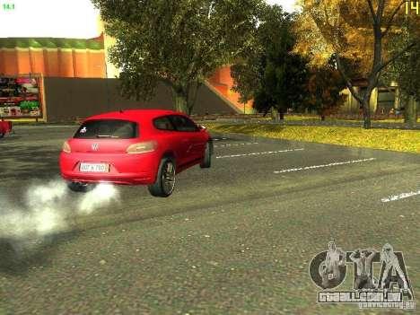 Volkswagen Scirocco 2009 para GTA San Andreas vista traseira