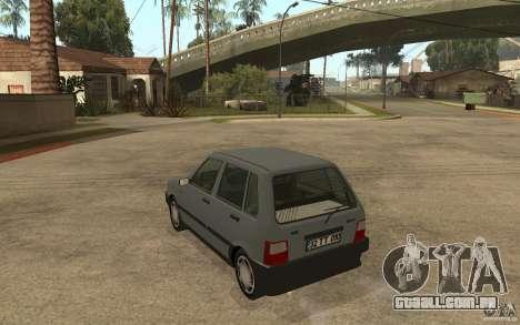 Fiat Uno 70s para GTA San Andreas traseira esquerda vista