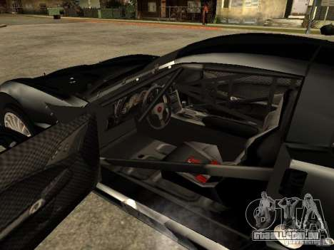 Chevrolet Corvette C6.R para GTA San Andreas traseira esquerda vista