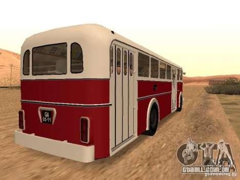 Ikarus 60 para GTA San Andreas traseira esquerda vista