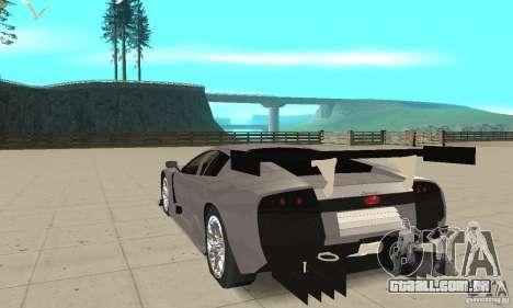Lamborghini Murcielago R GT para GTA San Andreas traseira esquerda vista