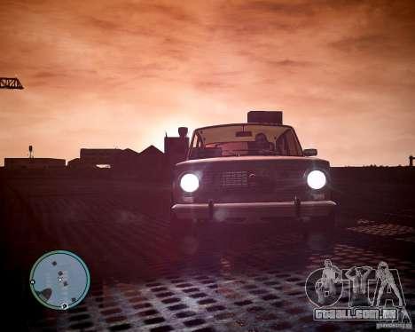 VAZ 2101 1972 Tun para GTA 4 traseira esquerda vista