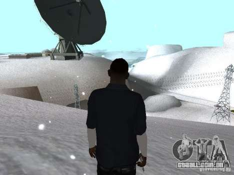 Snow MOD 2012-2013 para GTA San Andreas por diante tela