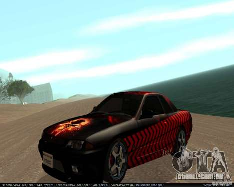 Nissan Skyline R32 GT-R + 3 vinil para GTA San Andreas