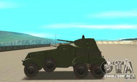BTR BA-11 para GTA San Andreas esquerda vista