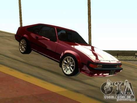 Toyota Celica Supra para GTA San Andreas vista traseira