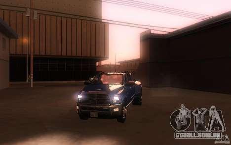 Dodge Ram 3500 Laramie 2010 para GTA San Andreas vista superior