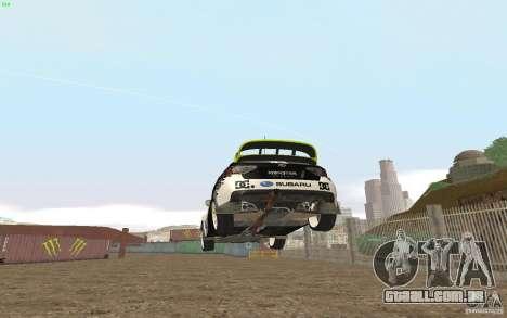Subaru Impreza WRX Gymkhana2 Beta para GTA San Andreas traseira esquerda vista