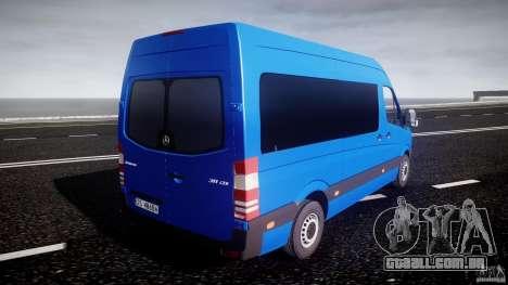 Mercedes-Benz ASM Sprinter Ambulance para GTA 4 vista superior