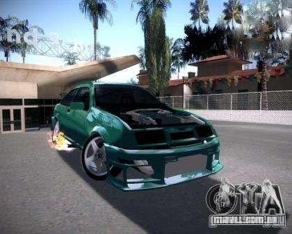 Ford Sierra Drift para GTA San Andreas traseira esquerda vista