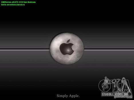 Arrancar a tela e menu mundo Mishin v2 para GTA San Andreas por diante tela
