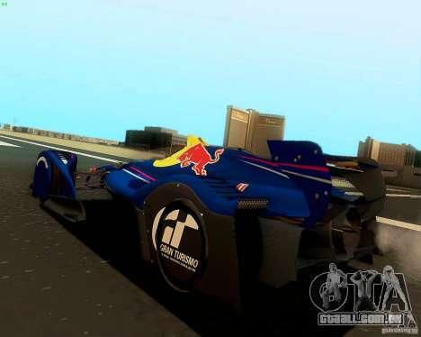 X2010 Red Bull para GTA San Andreas esquerda vista