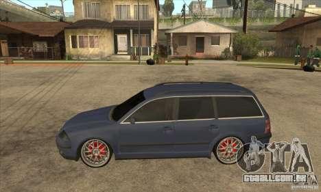Volkswagen Passat B5.5 2.5TDI 4MOTION para GTA San Andreas esquerda vista