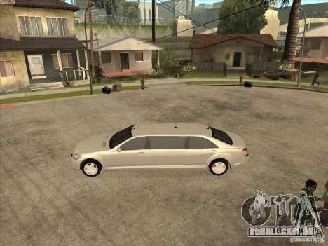 Mercedes-Benz Pullman (w221) SE para GTA San Andreas traseira esquerda vista