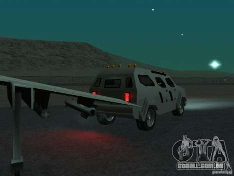 FBI Truck from Fast Five para GTA San Andreas vista traseira