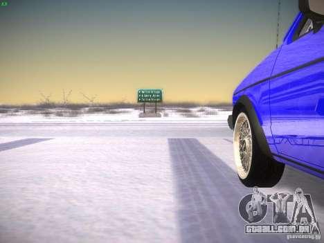 Volkswagen Rabbit GTI para GTA San Andreas vista traseira