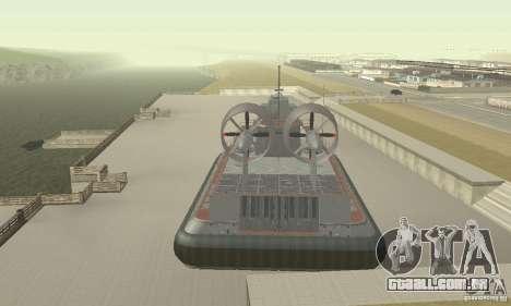 Hovercraft para GTA San Andreas vista traseira