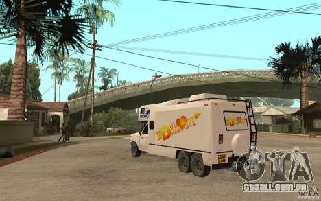 Ford F150 Carvana Dragostei para GTA San Andreas traseira esquerda vista