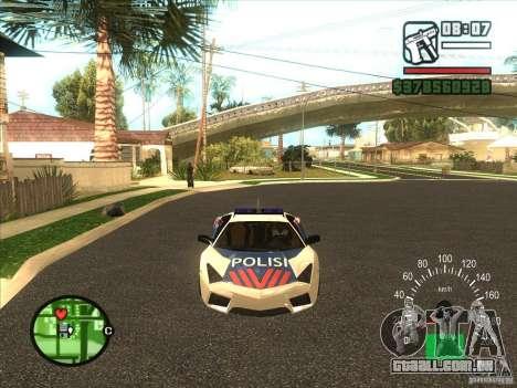 Lamborghini Reventon Police para GTA San Andreas esquerda vista