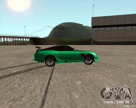 Toyota Supra ZIP style para GTA San Andreas vista interior