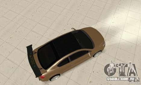 Toyota Scion tC Edited para GTA San Andreas traseira esquerda vista