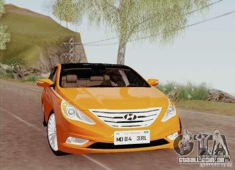 Hyundai Sonata 2012 para GTA San Andreas interior