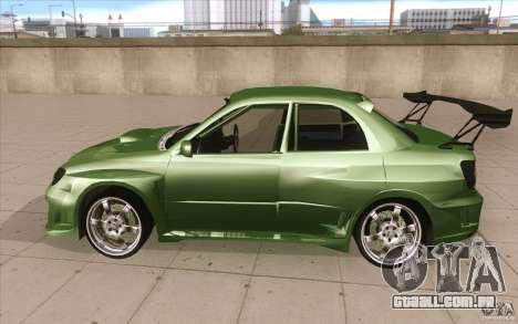 Subaru Impreza STI para GTA San Andreas esquerda vista