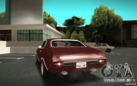 Chevrolet Chevelle SS para GTA San Andreas vista interior