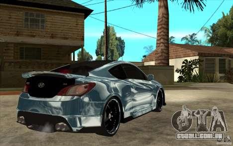 Hyundai Genesis Tuning para GTA San Andreas vista direita