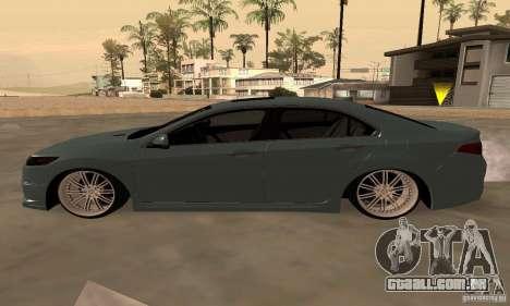 Acura TSX 2010 para GTA San Andreas vista traseira