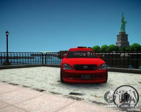 Schafter RS para GTA 4 vista de volta