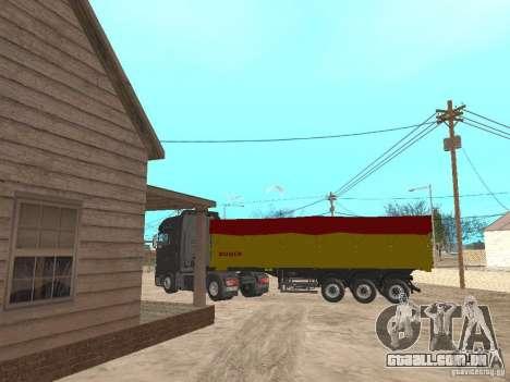 Reboque basculantes para GTA San Andreas traseira esquerda vista