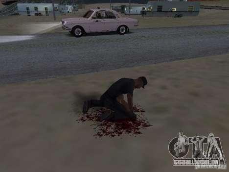 Ferido por um tiro para GTA San Andreas segunda tela