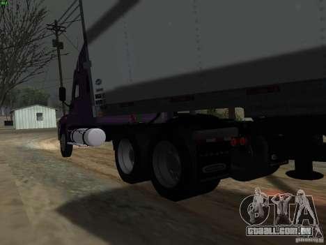 Freightliner Cascadia para GTA San Andreas vista traseira