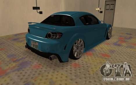 Mazda RX8 VIP para GTA San Andreas vista direita