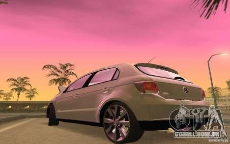 Volkswagen Gol G6 para GTA San Andreas vista interior