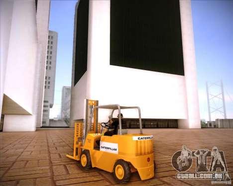 Caterpillar Torocat para GTA San Andreas vista direita