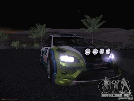 Ford Focus RS WRC 2006 para GTA San Andreas vista inferior