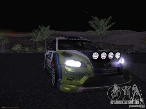 Ford Focus RS WRC 2006 para GTA San Andreas vista inferior