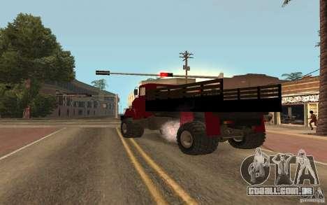 KrAZ 5131 para GTA San Andreas traseira esquerda vista