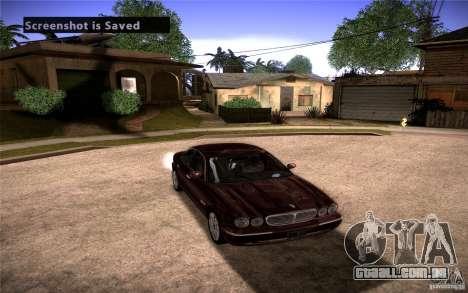 Jaguar Xj8 para GTA San Andreas vista traseira
