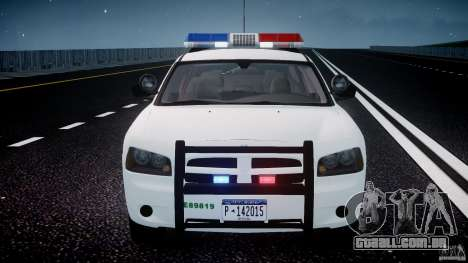 Dodge Charger US Border Patrol CHGR-V2.1M [ELS] para GTA 4 interior