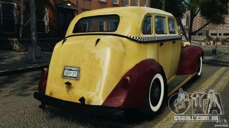 Shubert Taxi para GTA 4 traseira esquerda vista