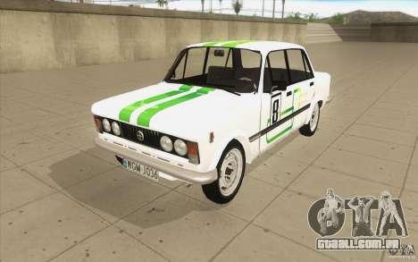 Fiat 125p para GTA San Andreas vista inferior