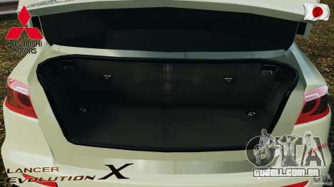 Mitsubishi Lancer Evolution X 2007 para GTA 4 vista superior