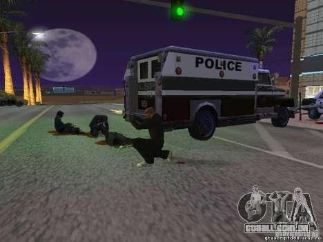 Ferido por um tiro para GTA San Andreas terceira tela