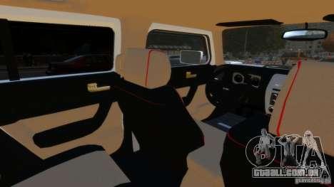 Hummer H3 2005 Gold Final para GTA 4 vista de volta
