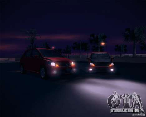 Nissan Versa Stock para GTA San Andreas vista direita